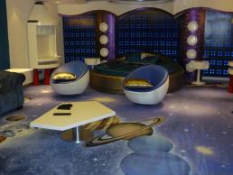 Teppich bedrucken Weltraum
